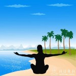 pranayama on the beach
