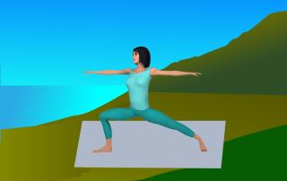 slow flow yoga movement